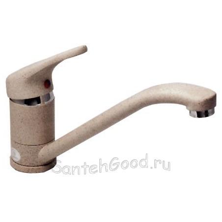 Смеситель для кухни однорычажный KAISER COUNTY 66231-1 коричневый гранит