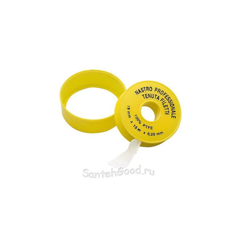 Фум. лента для воды 19 мм х 15 м х 0,20 мм