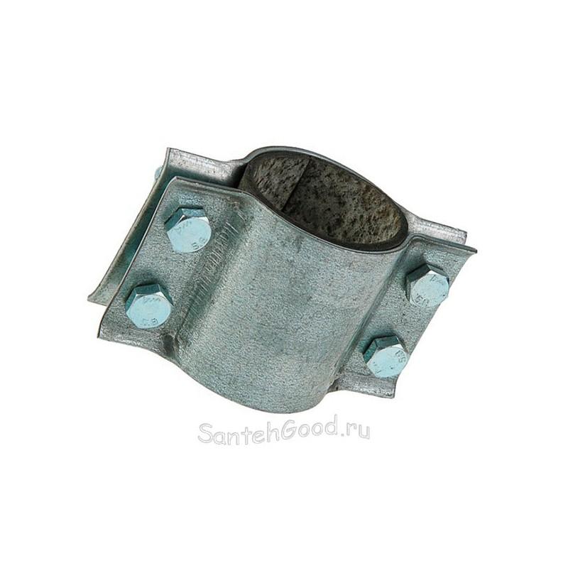 Хомут ремонтный двухсторонний с резинкой 1 1/2″ (48 - 51 мм)