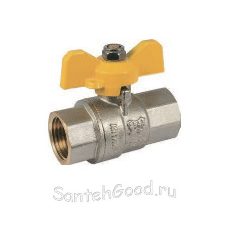 Кран шаровой газовый 1″ внутр/внутр ручка-бабочка PROFACTOR