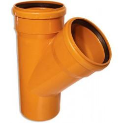 Тройник ПВХ для наружной канализации d-160х160 45°