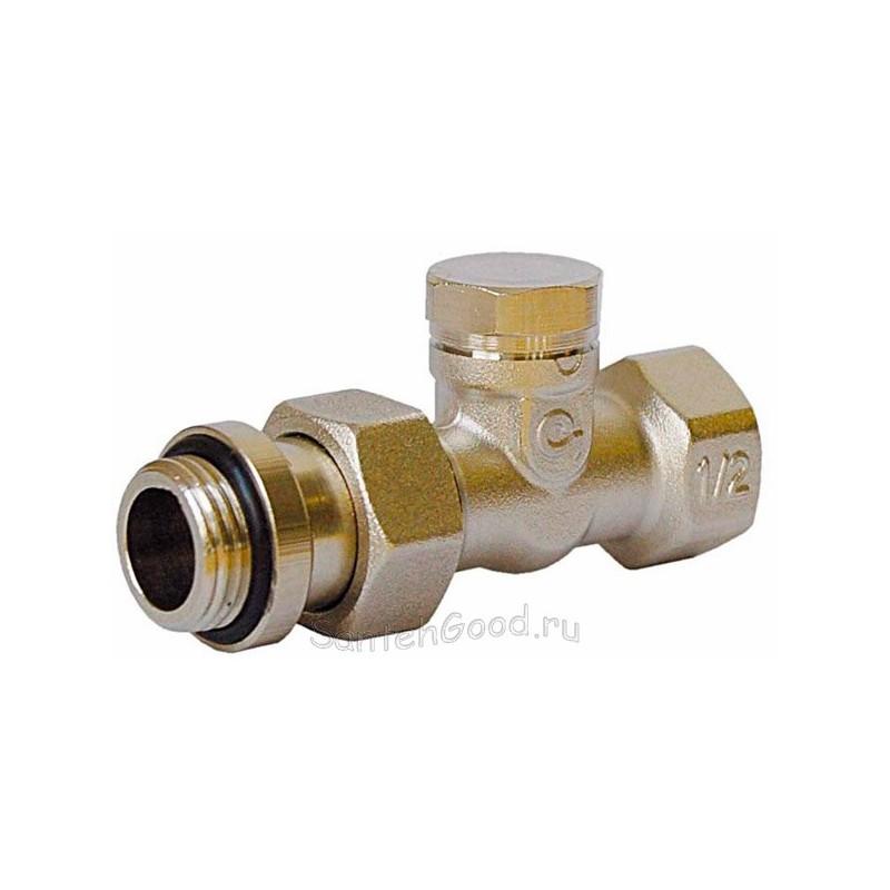 Клапан для радиатора нижний прямой 1/2″