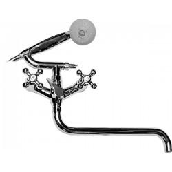 Смеситель для ванной двухвентильный KAISER CARLSON LUX 11066 хром