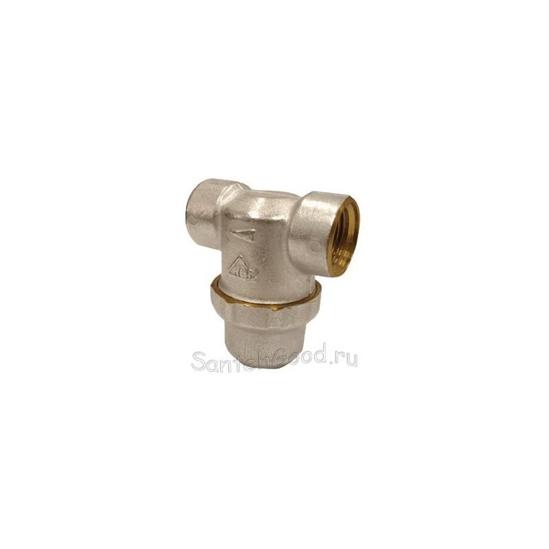 Фильтр для воды грубой очистки Т-образный с сеткой 400 мкм 3/4″ внутр/внутр