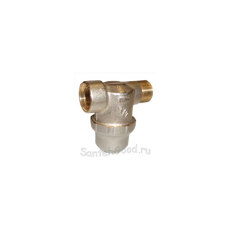 Т-образный фильтр грубой очистки для воды с отстойником 1/2″ внутр/наружн