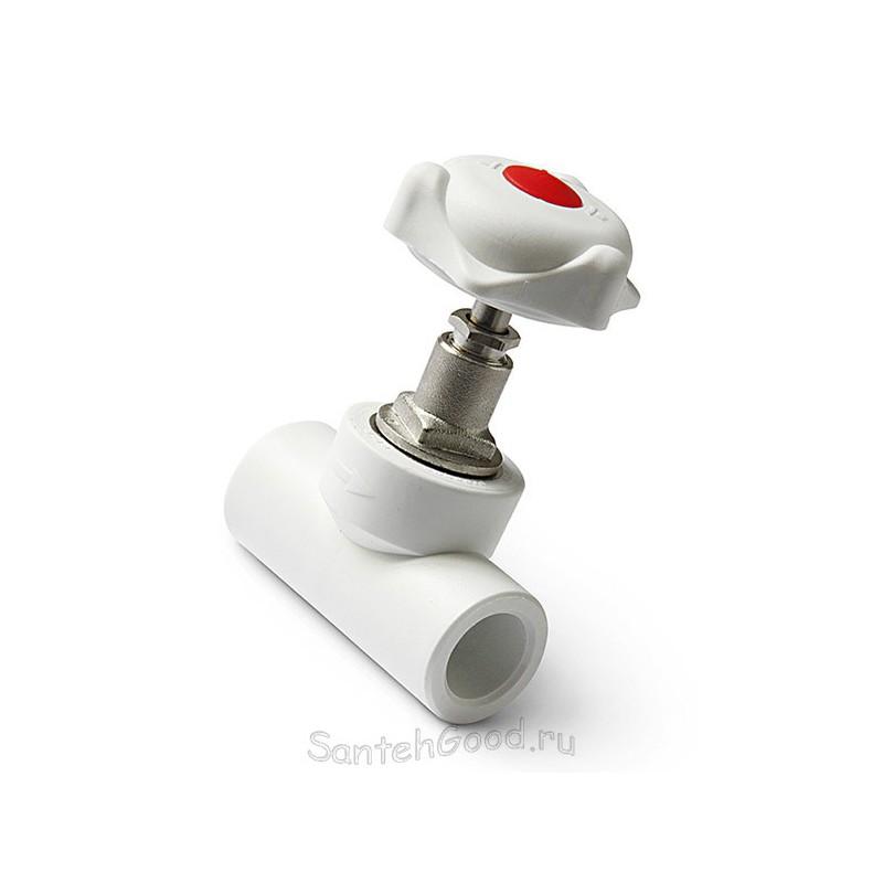 Вентиль запорный PPR полипропилен Pro Aqua d-25 мм PA42011