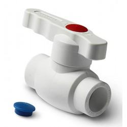 Кран шаровой полнопроходной PP-R полипропиленовый 50 Pro Aqua PA40016