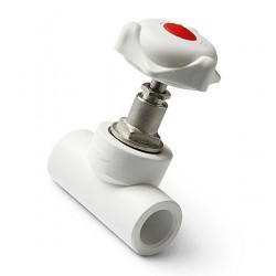 Кран вентильный полипропиленовый Pro Aqua d-32 мм PA42013