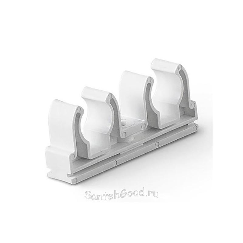 Крепление для полипропиленовых труб двойное d-20мм