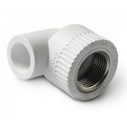 Уголок комбинированный PPR полипропиленовый внутренняя резьба 25 х 3/4″ Pro Aqua PA26014P