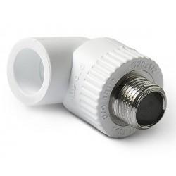 Уголок полипропиленовый комбинированный наружная резьба 20 х 3/4″ Pro Aqua PA27010P