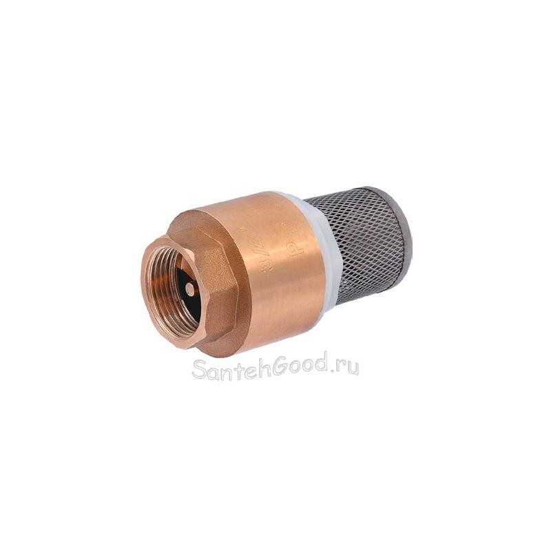 Клапан обратный терминальный 1″ с фильтром (латунь) PROFACTOR