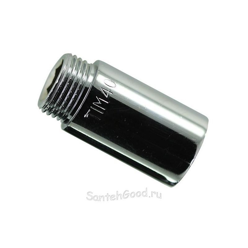 Фитинг удлинитель 3/4″ х 20 мм внутр. / наружн. (хром) TIM