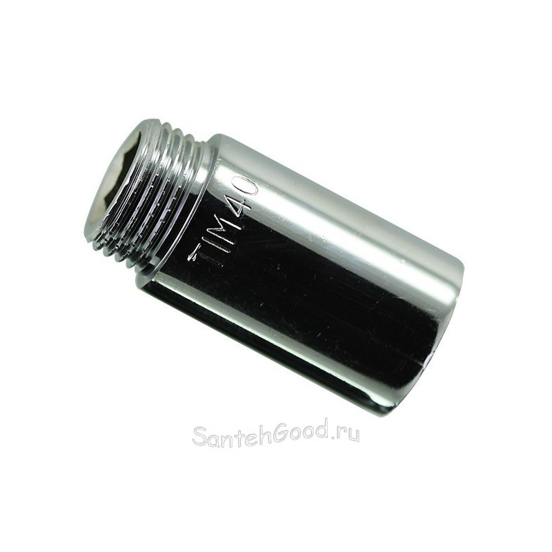 Удлинитель хромированный 3/4″ х 60 мм внутр. / наружн. TIM