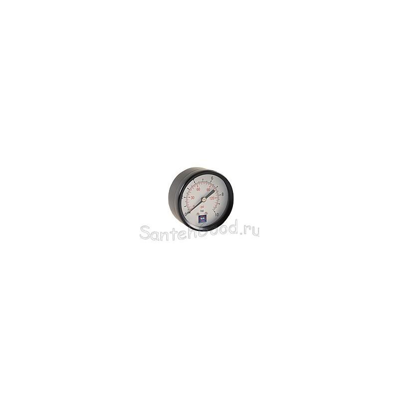 Манометр горизонтальный 1/4″ (50/10 bar)