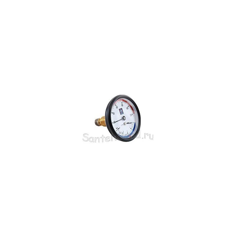 Термоманометр горизонтальный(тыльный) 1/2″- (4бар)