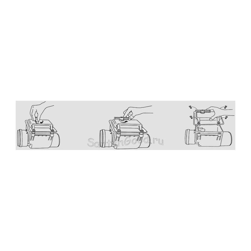 Обратный клапан для канализации d-110-2