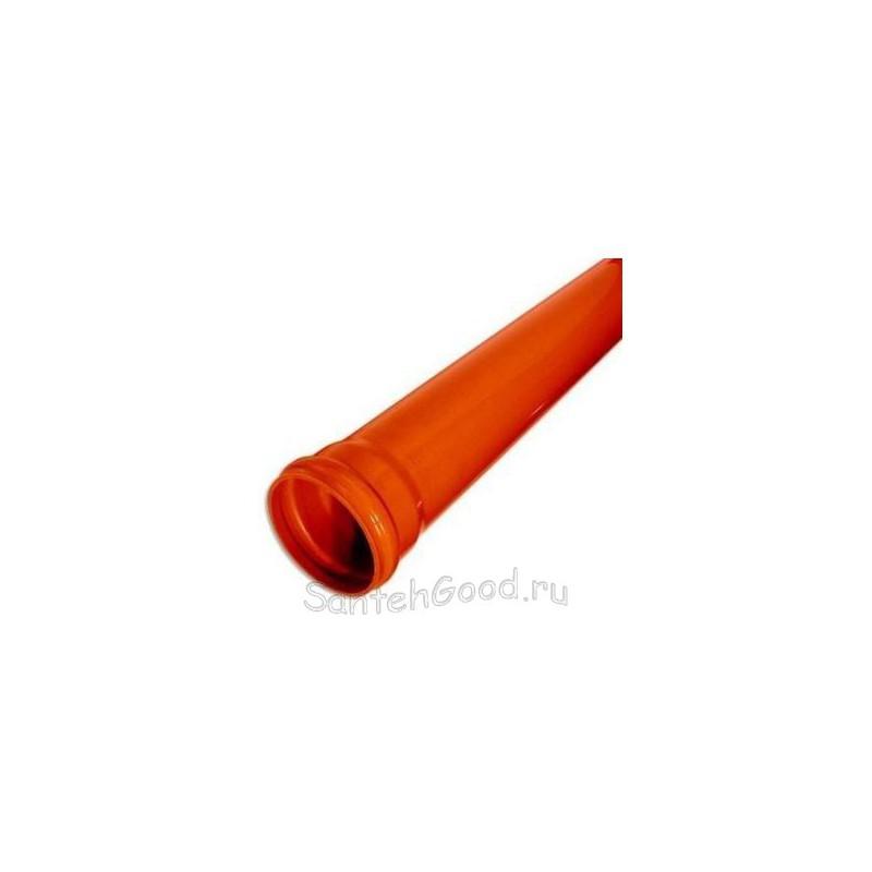 Труба канализационная пластиковая наружная d-160 L 1000мм (3,6мм)