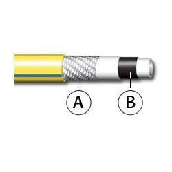 WHITE PLUS NTS Шланг поливочный 5-и слойный жёлтый 3/4″ бухта 25 м