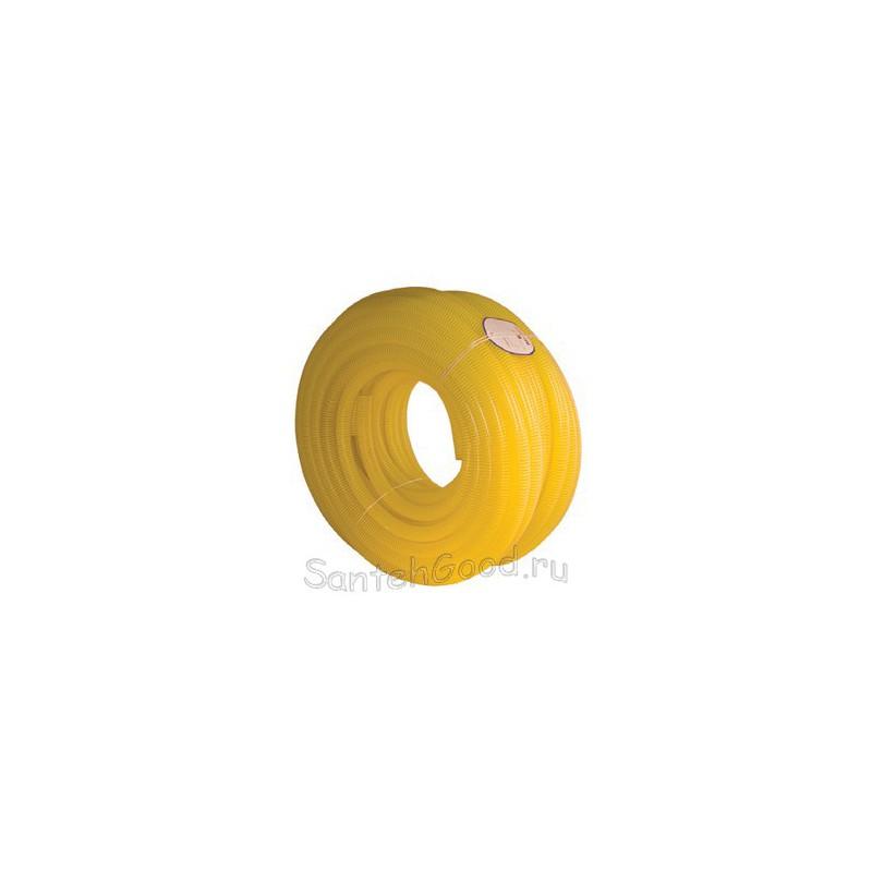 Шланг поливочный 1″ армированный жёлтый бухта 50 м