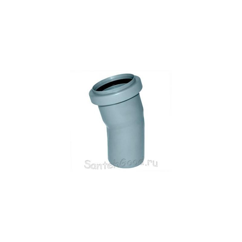 Отвод для канализации d-50 15°