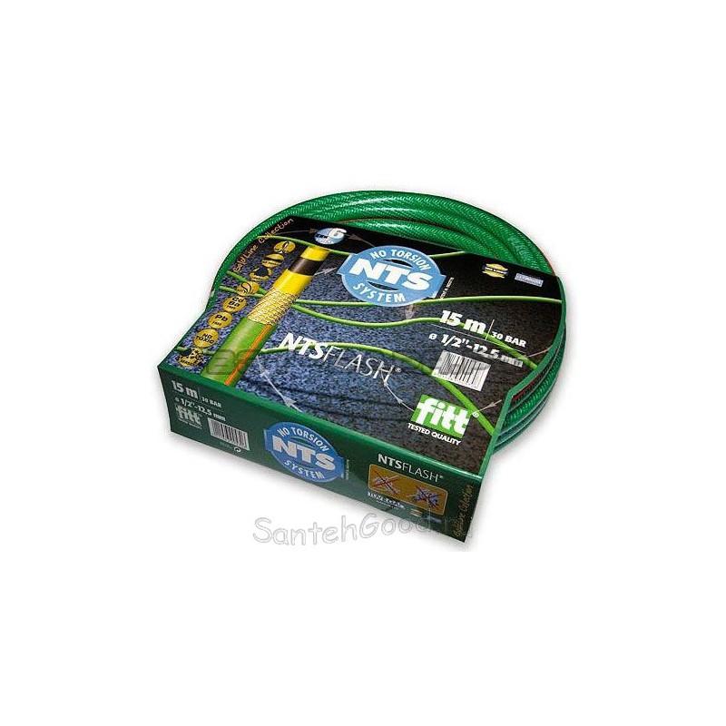 FLASH NTS Шланг поливочный 5-и слойный зелёный 1/2″ бухта 15 м
