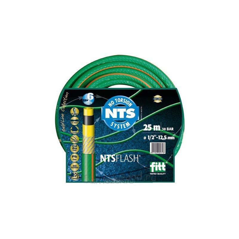 FLASH NTS Шланг поливочный 5-и слойный зелёный 1/2″ бухта 25 м