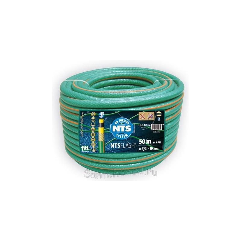FLASH NTS Шланг поливочный 5-и слойный зелёный 3/4″ бухта 50 м