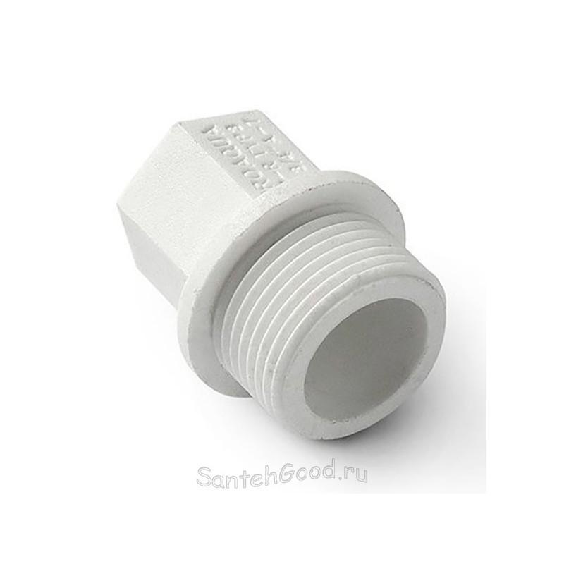 Заглушка резьбовая полипропиленовая 20 х 1/2″ наружная резьба Pro Aqua PA15508P