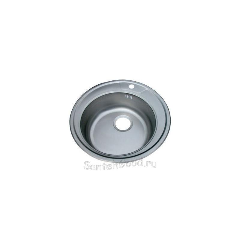 Кухонная мойка врезная из нержавеющей стали ø51
