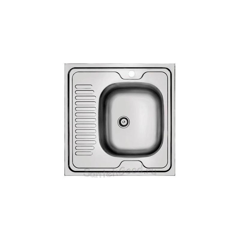 Мойка для кухни из нержавеющей стали 60х60 (накладная правая)