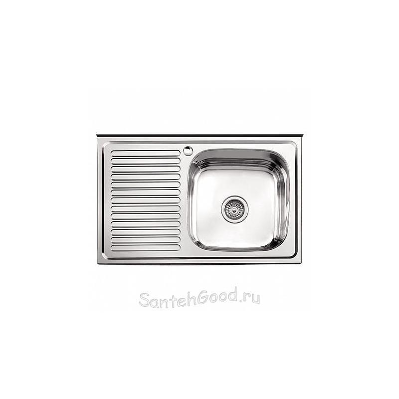 Мойка для кухни из нержавеющей стали 60х80 (накладная правая)