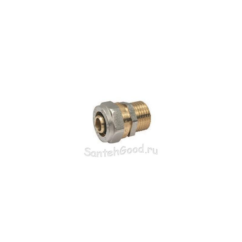 Соединитель металлопластиковый 16 х 1/2″ наружная резьба PROFACTOR