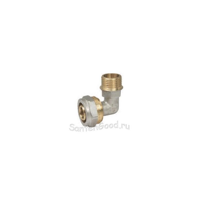 Уголок для металлопластиковых труб 16х1/2″ наружная резьба PROFACTOR