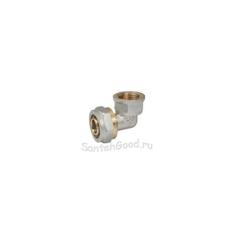 Уголок для металлопластиковых труб 20х1/2″ внутренняя резьба PROFACTOR