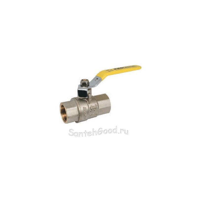 Кран шаровой газовый 1/2″ внутр/внутр ручка-рычаг PROFACTOR