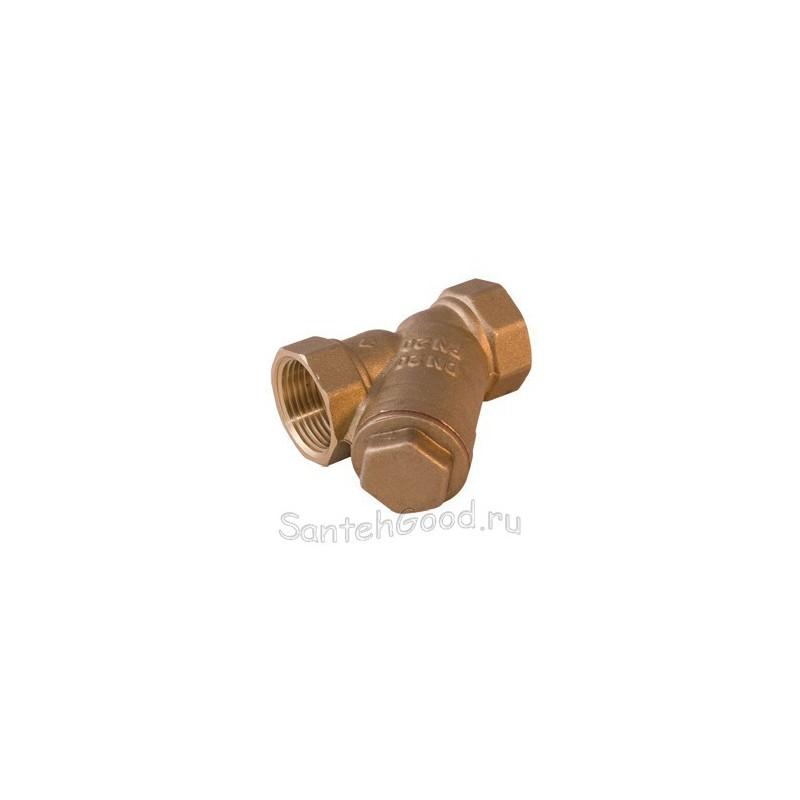 Фильтр для воды У-образный косой с сеткой 400 мкм 1″