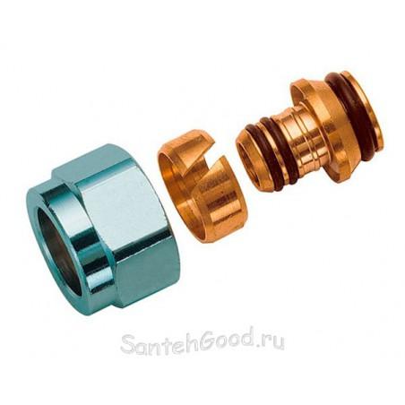 Концовка для металлопластиковых труб с накидной гайкой (евроконус) 1/2″ х 16 х 1/2″ FAR