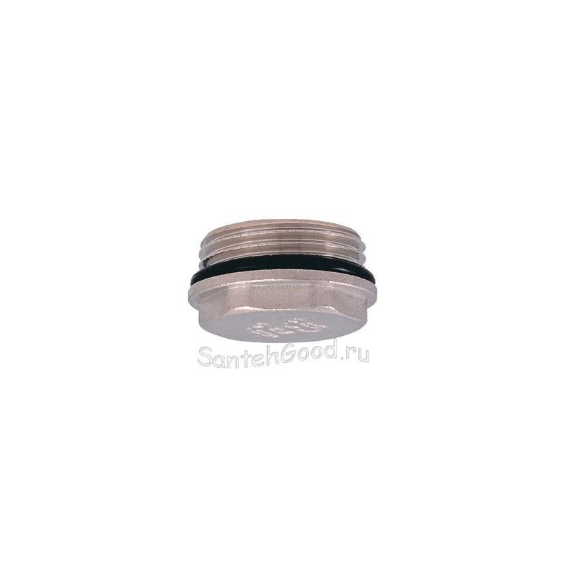 Заглушка в трубу никелированная с уплотнительным кольцом 3/4″ наружная резьба PROFACTOR
