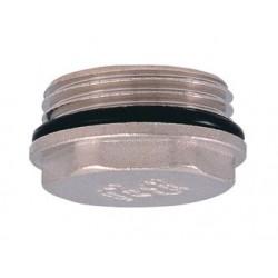 Заглушка в трубу никелированная с уплотнительным кольцом 1″ наружная резьба PROFACTOR
