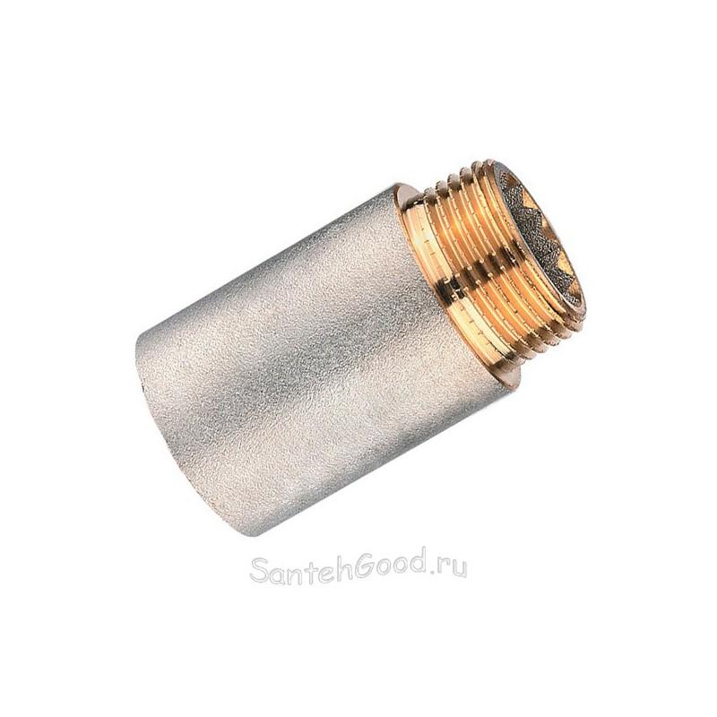 Удлинитель никелированный резьбовой 1/2″ х 60 мм (латунь) PROFACTOR