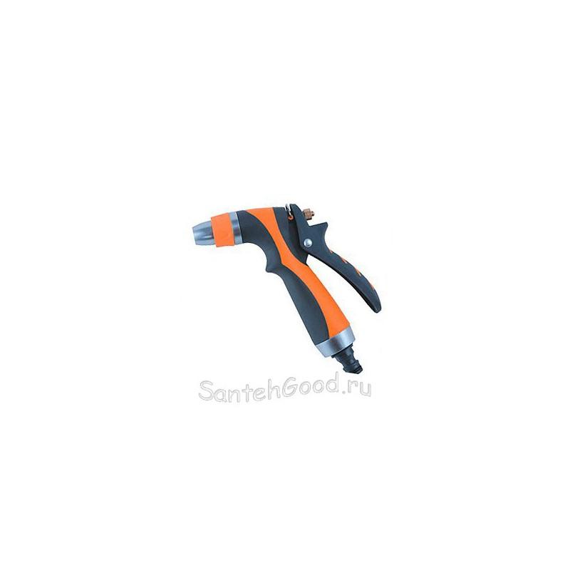 Пистолет разбрызгиватель для полива металлический мягкая ручка (1 режим)