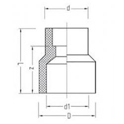 Муфта переходная полипропилен внутренняя / наружная 63 х 50 Pro Aqua PA12538P - 01
