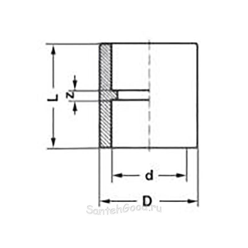 Муфта PP-R полипропиленовая d-20 мм Pro Aqua PA12008P - 01