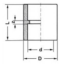 Полипропиленовая муфта d-32 мм Pro Aqua PA12012P - 01