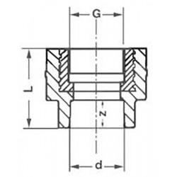 Комбинированная PP-R муфта с внутренней резьбой 32-3/4″ Pro Aqua PA22016P - 01