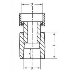 Муфта полипропиленовая с накидной гайкой 20-1/2″ Pro Aqua PA29008 - 01