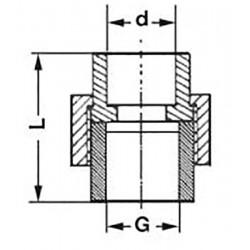 Муфта американка полипропиленовая с внутренней резьбой 20-1/2″ Pro Aqua PA20008 - 01