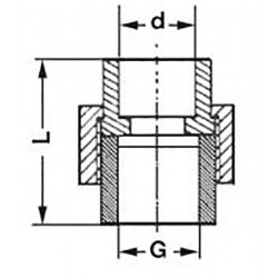 Муфта полипропиленовая разъемная комбинированная с внутренней резьбой 25-1″ Pro Aqua PA20015 - 01