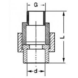 Муфта разъемная комбинированная PP-R с наружной резьбой 20-1/2″ Pro Aqua PA21008 - 01
